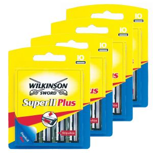 Lot de 4 Boites de 10 Lames Wilkinson Super ll Plus