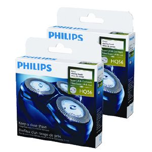 Lot de 2 packs de têtes de rasoir Philips (ref HQ56)