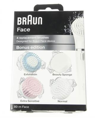 LOT DE 4 BROSSES BRAUN FACE S E80