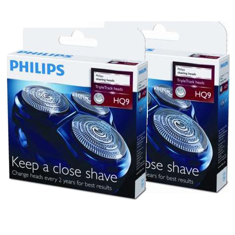 Lot de 2 packs de Têtes de rasoir Philips (ref HQ9) pour séries 9000
